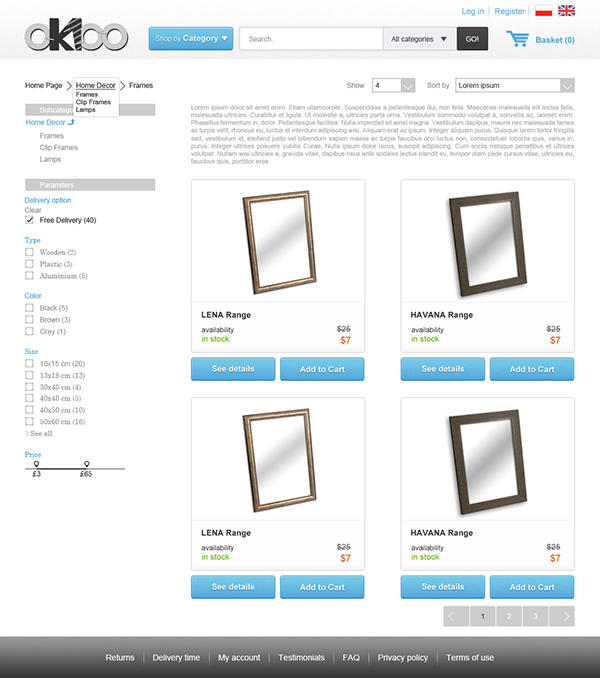 Tablet Landscape - Products